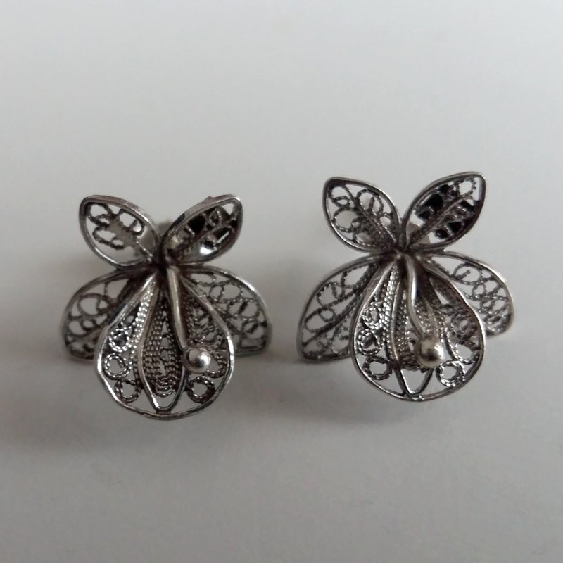 Filigree Earrings Orquideas Chicas
