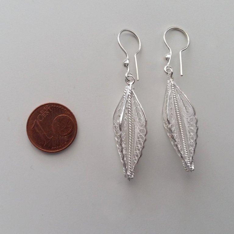 Filigree Earrings Plumas de Angel, light