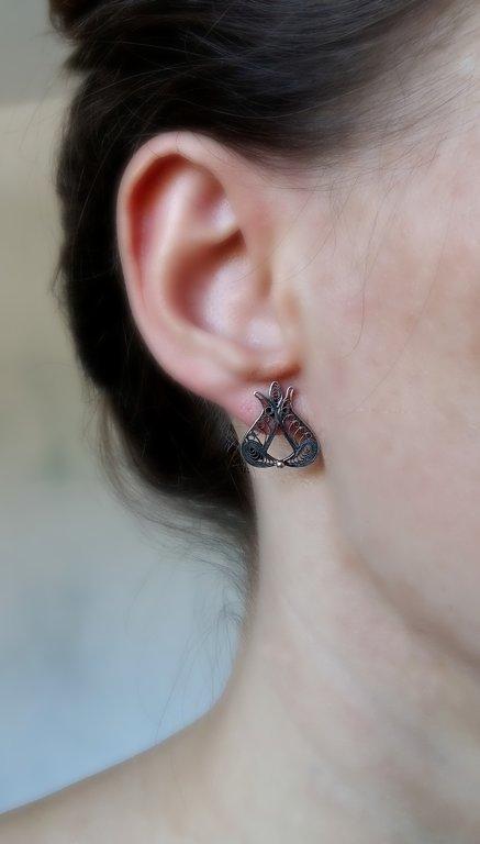 Filigree Earrings Pomegranate
