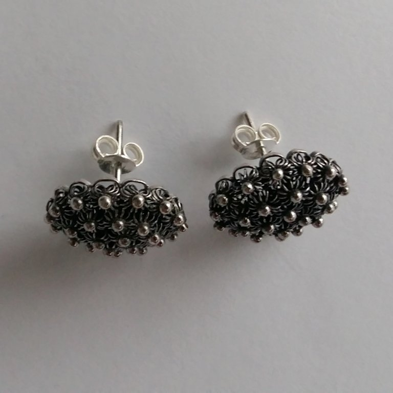 Earrings with Charro Element Roseton Oscuro
