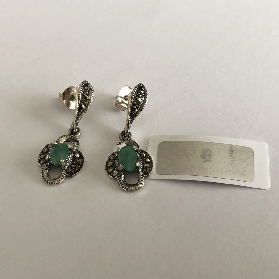 Smaragda auskari Esmeralda