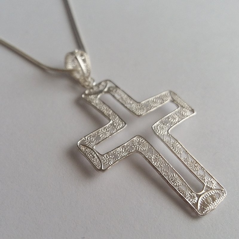 Filigree Cross Pendant Cruz Filigrana