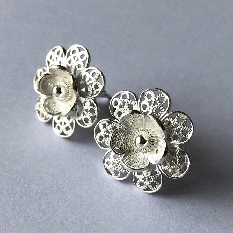 Filigree Earrings Flor de Carmen