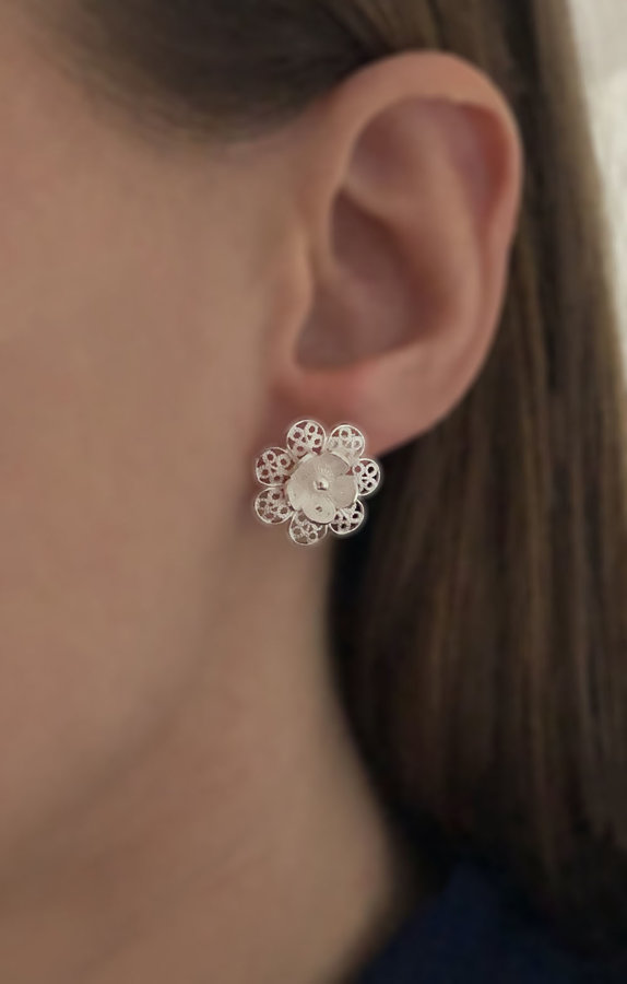 Filigree Earrings Flor de Carmen