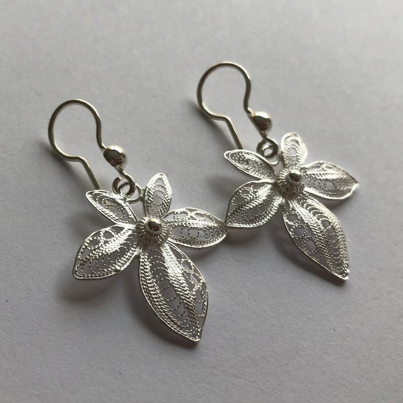 Filigree Earrings Orquidea Simple