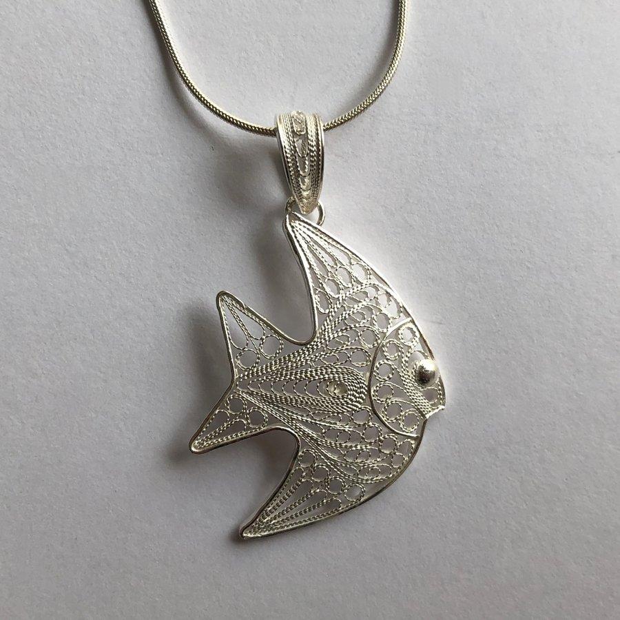 Filigree Fish Pendant Pez Filigrana
