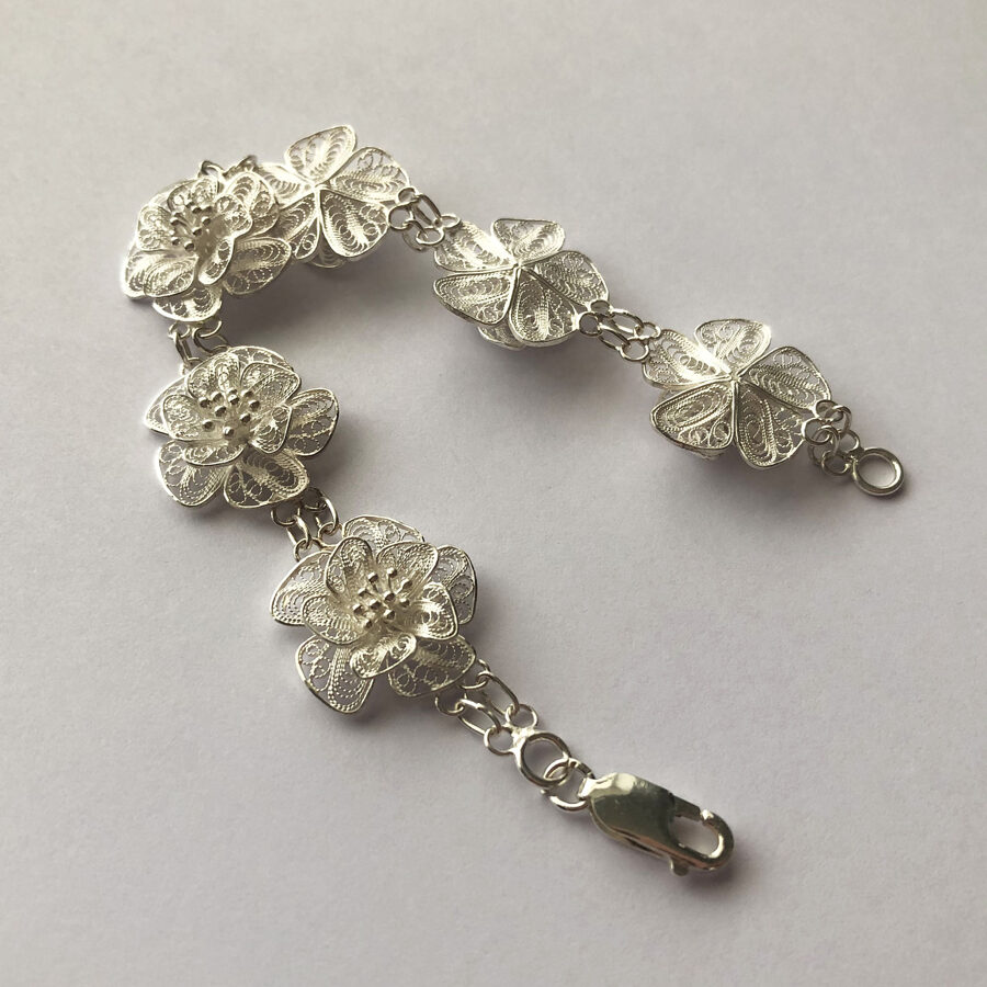 Filigree Bracelet Flor de Alegria