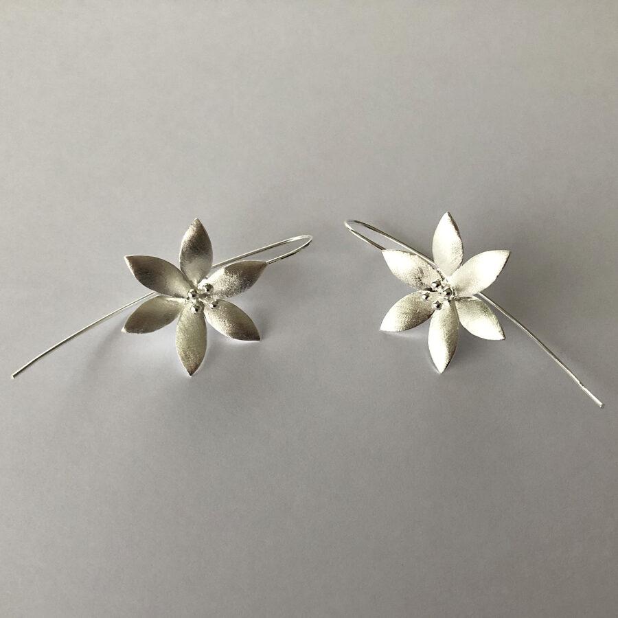 Flower Earrings Flor de Hielo