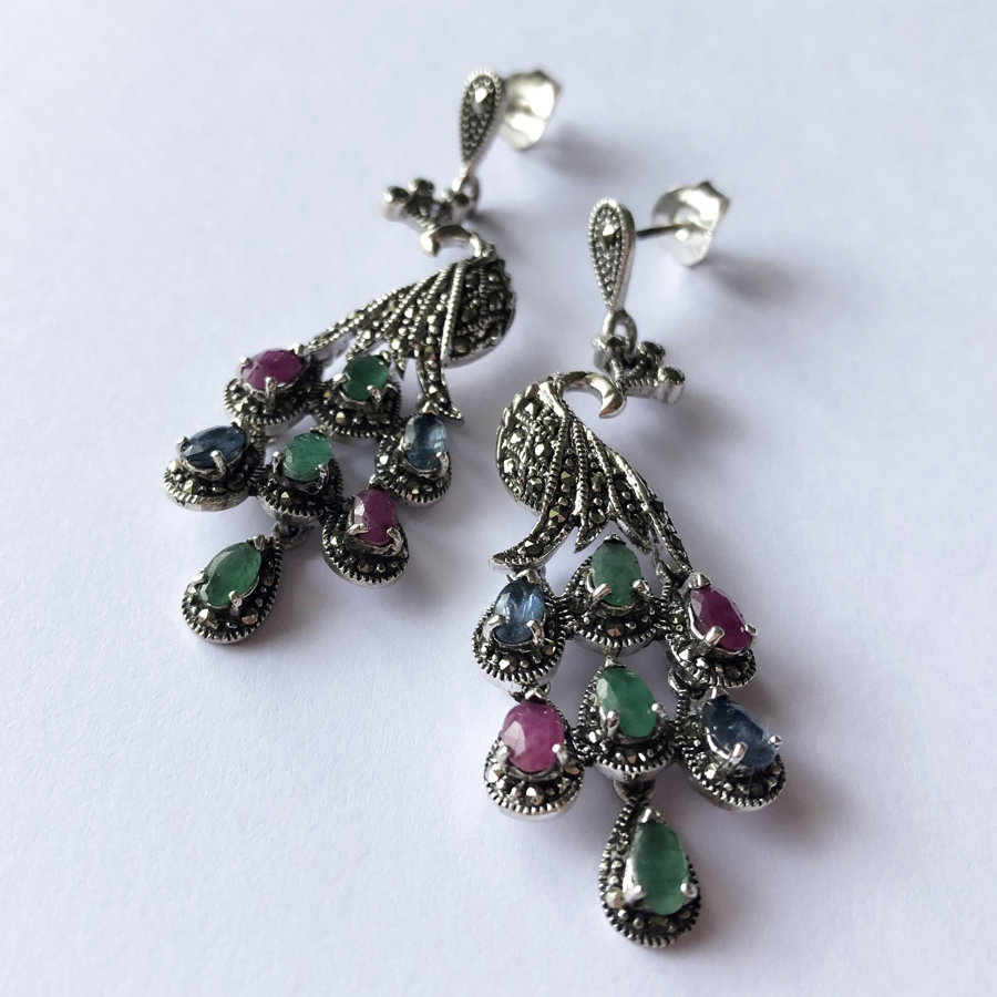 Peacock Earrings Pavo Real