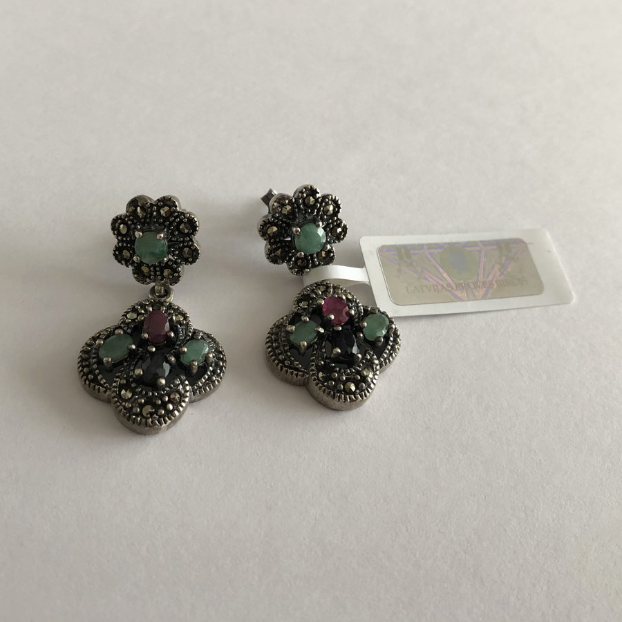 Earrings with Gems Isabel