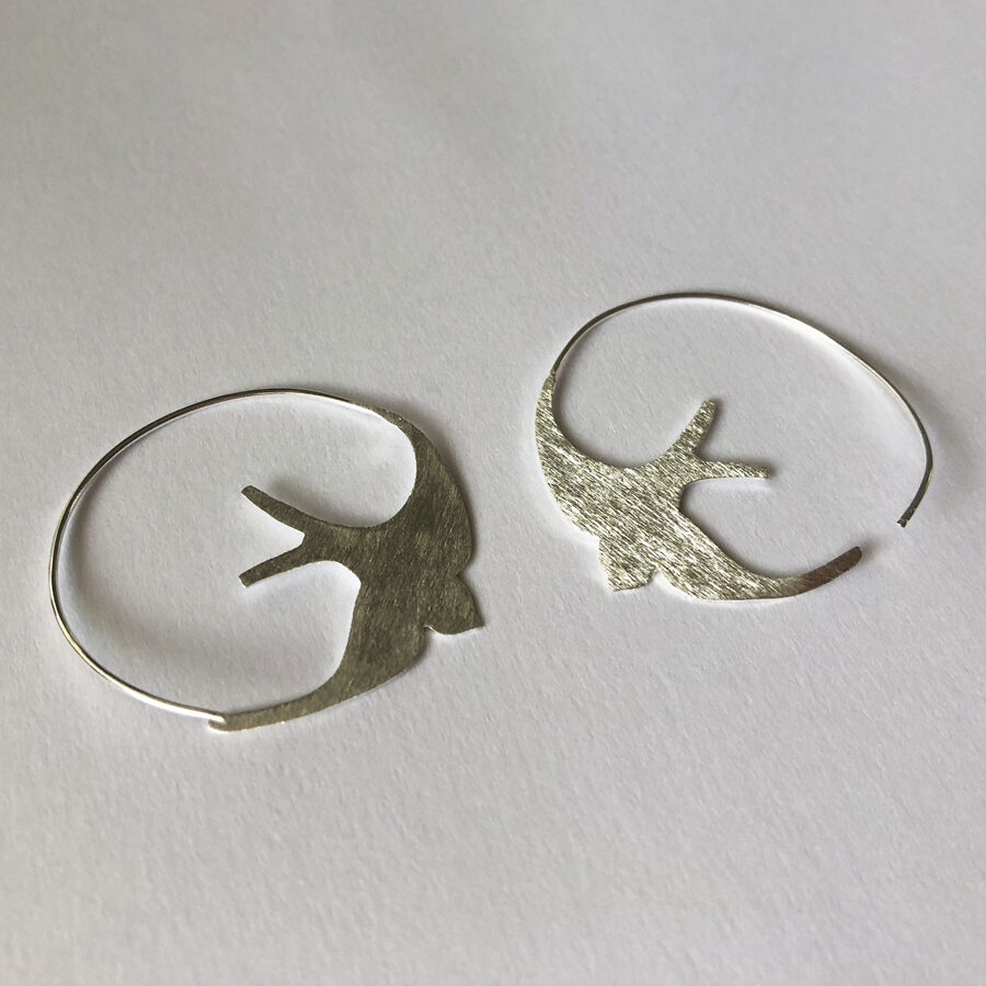Silver Bird Earrings Golondrina