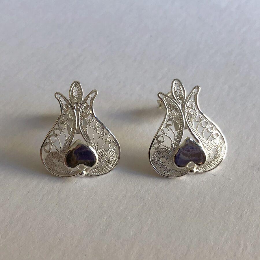 Filigree Earrings Pomegranate II