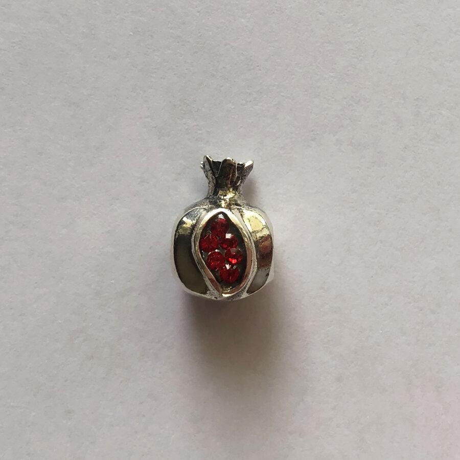Silver Pomegranate Bead - Charm Granada