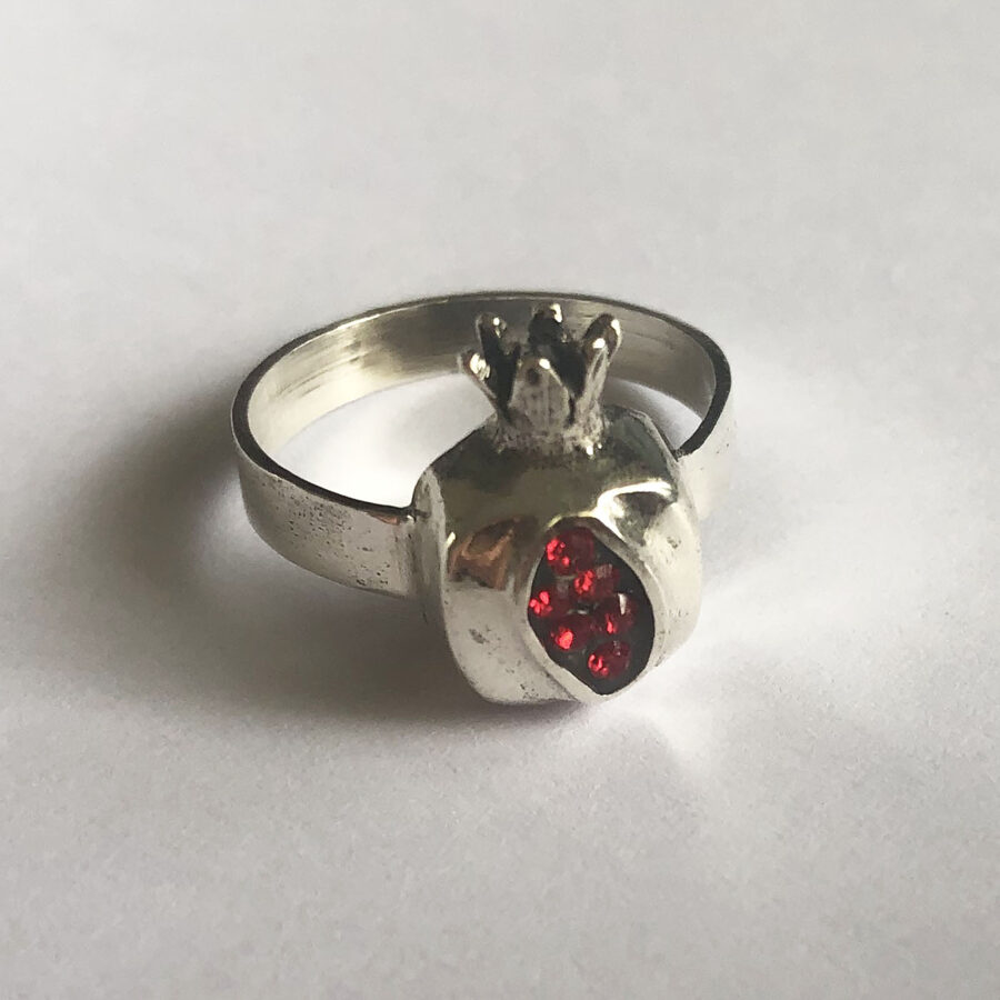 Silver Pomegranate Ring Granada
