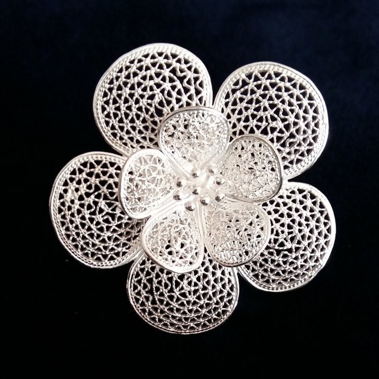 Filigree Ring Flor Grande
