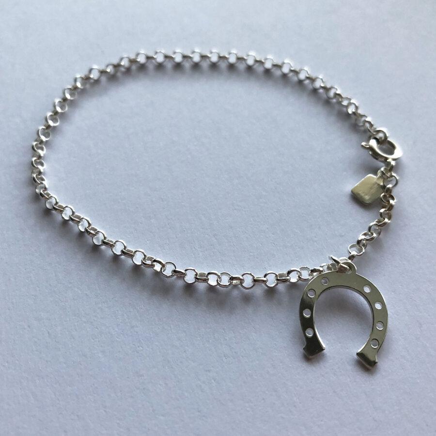 Silver Horseshoe Bracelet Herradura