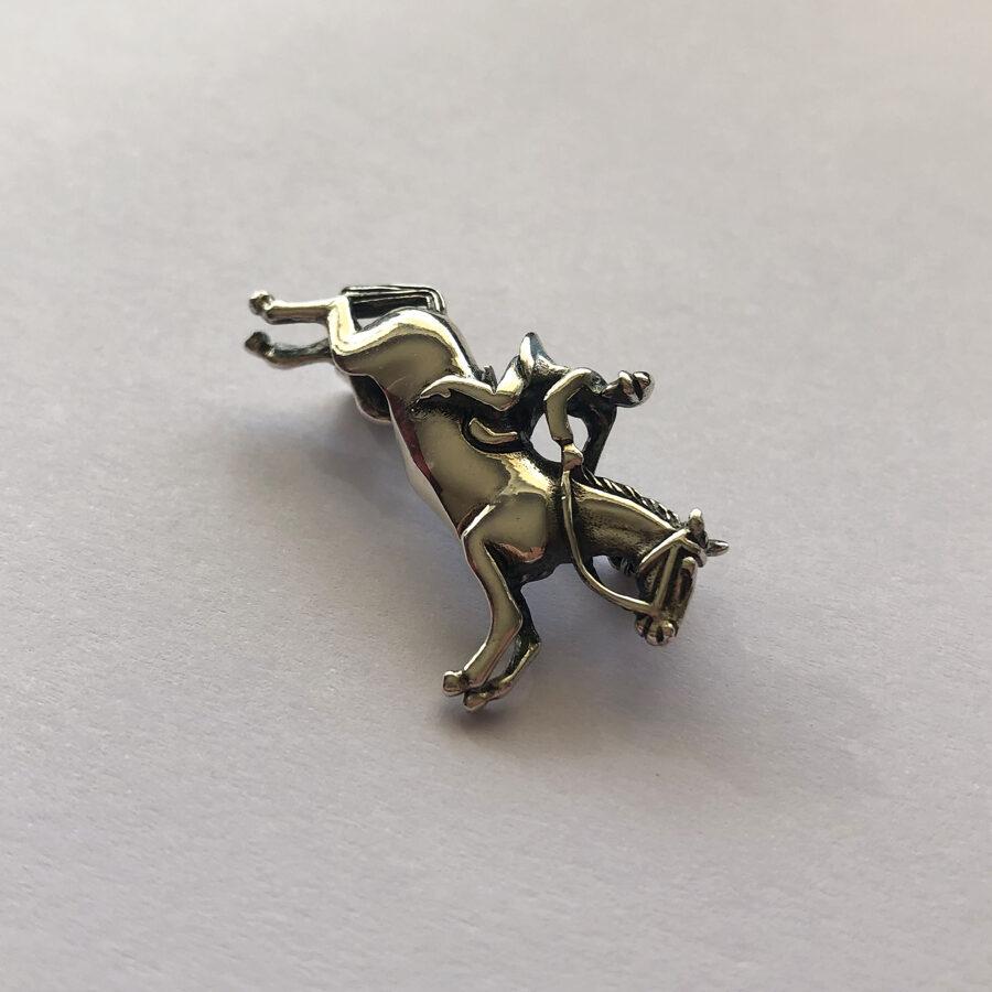 Silver Horse Brooch Jinete