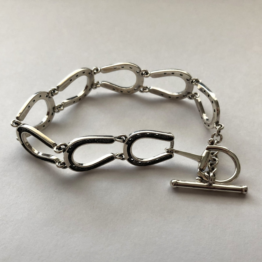 Silver Horseshoe Bracelet Herraduras