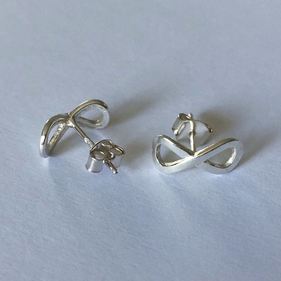 Silver Earrings Infinito Studs