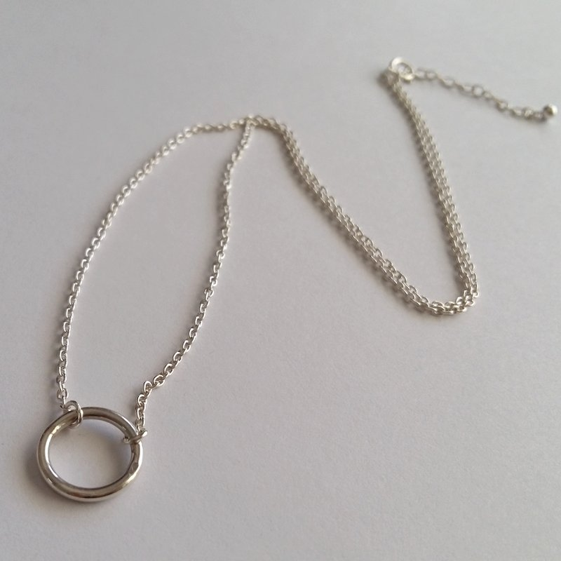 Silver Karma Ring Necklace