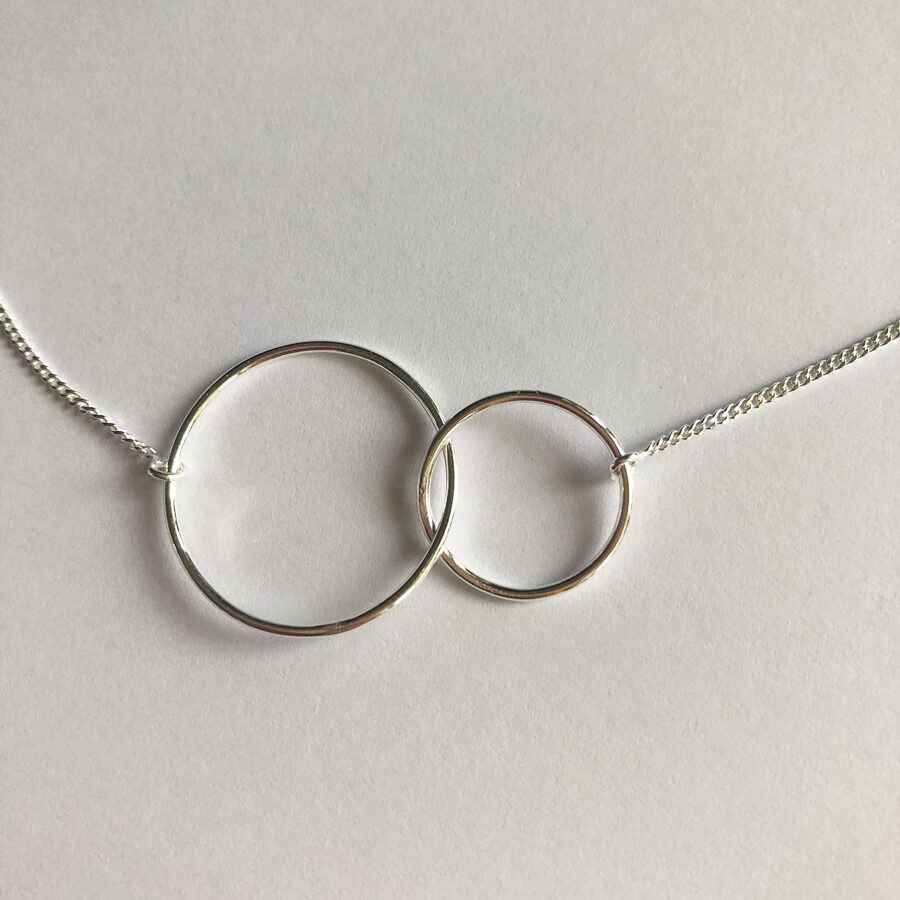 Silver Infinity Necklace L