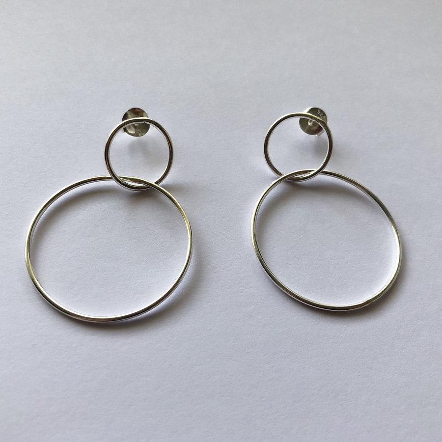 Large Karma Hoop Earrings