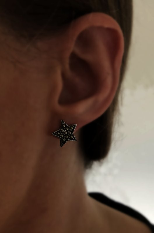 Marcasite Star Stud Earrings Estrella