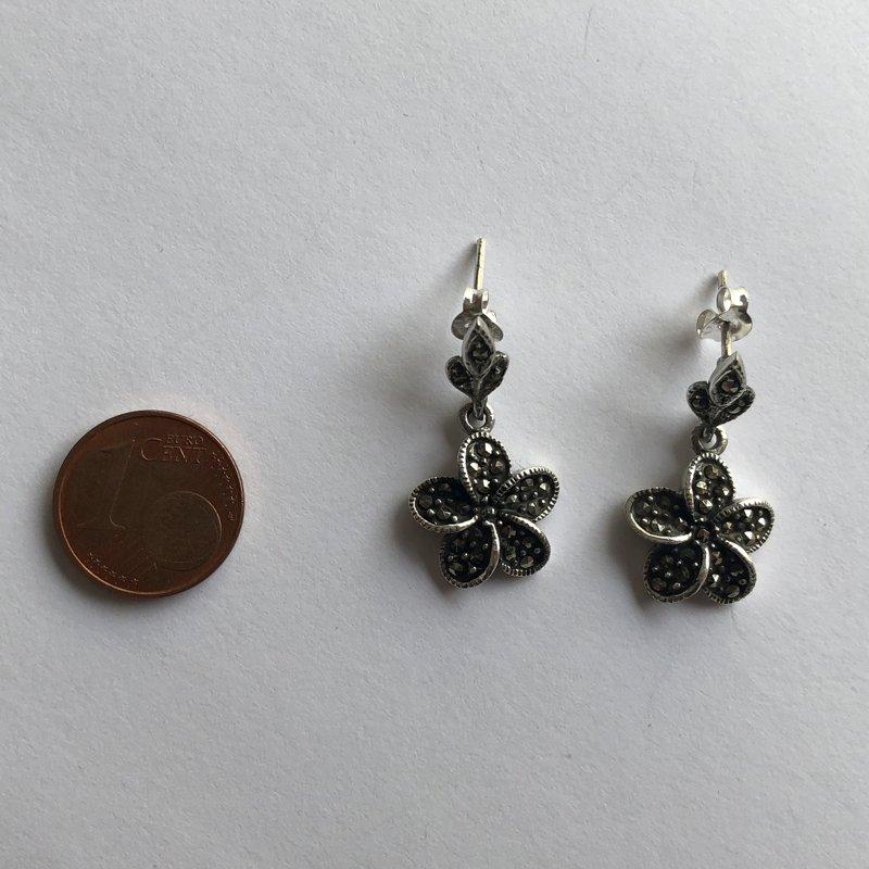 Marcasite Earrings Flor Marcasita