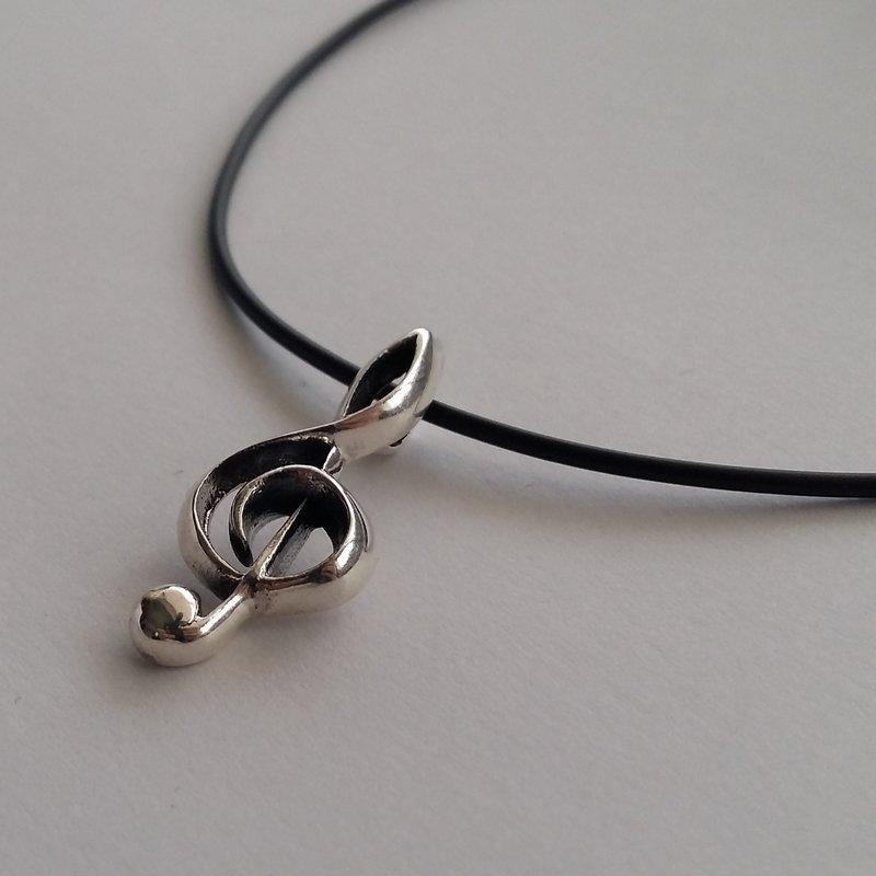 Silver Clef Pendant Clave
