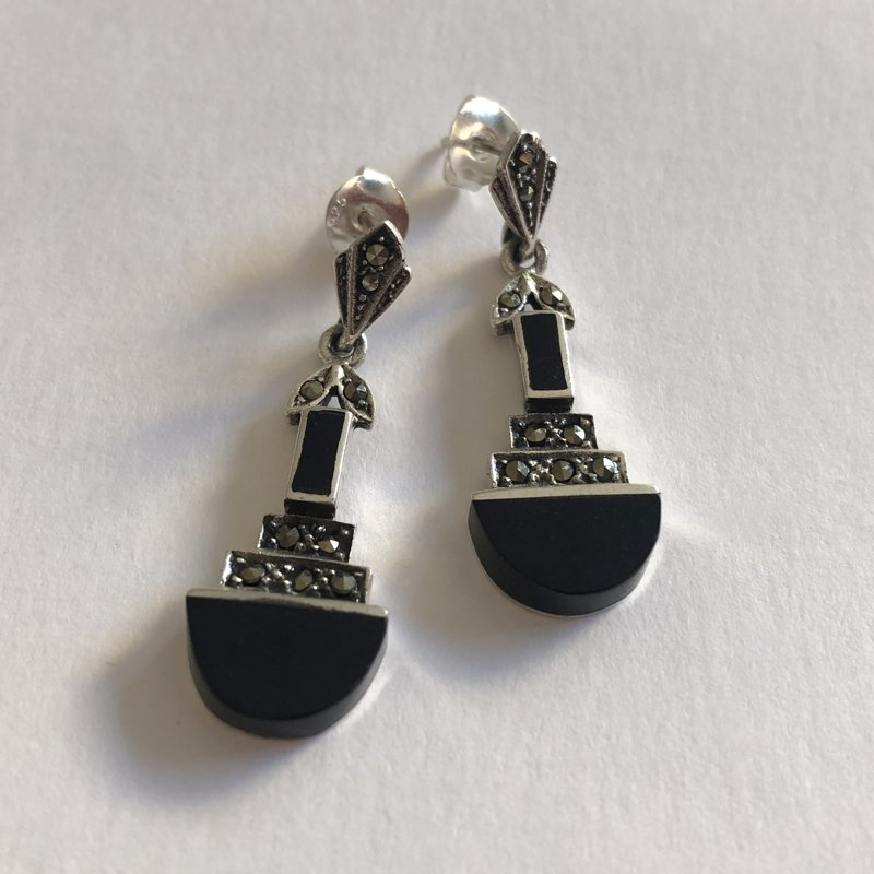 Onyx Earrings Hera
