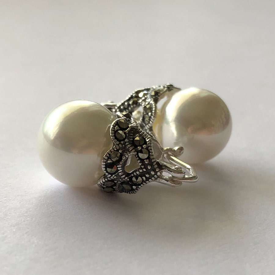 Pērļu auskari Lady D Grande
