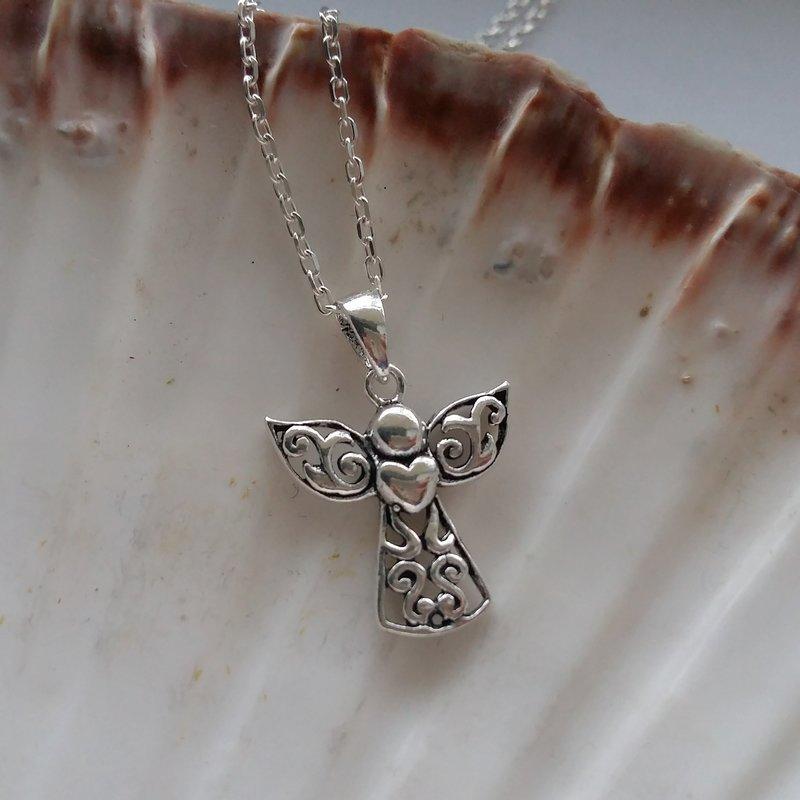 Silver Angel Pendant Angel Corazon