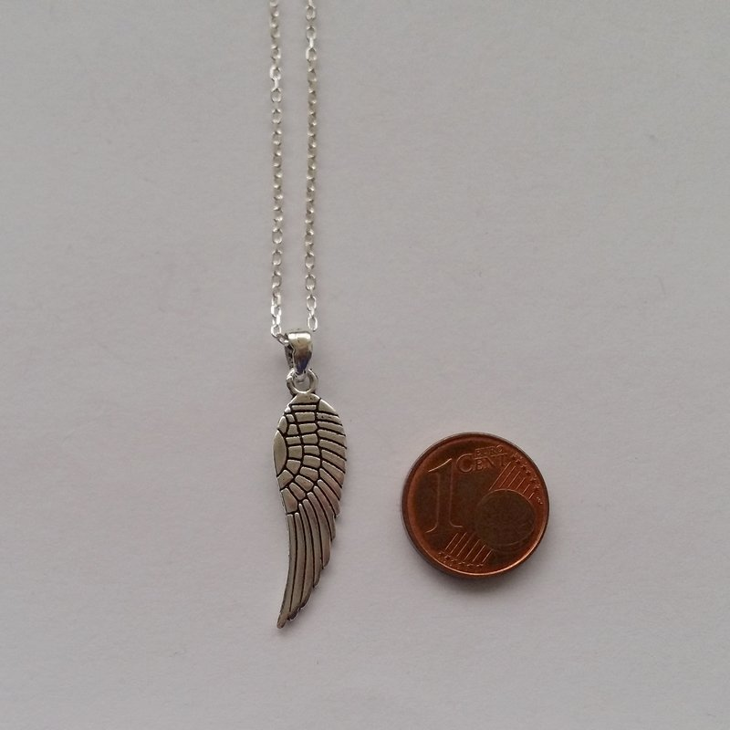 Sterling Silver Pendant Angel Wing