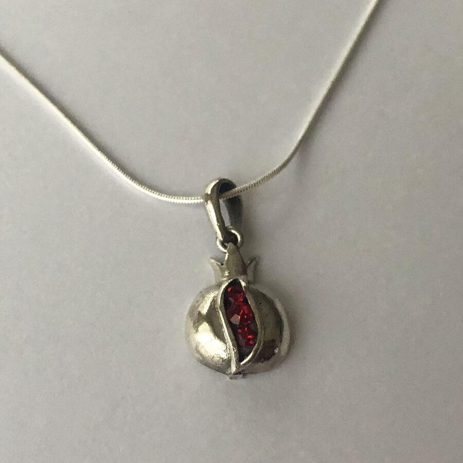 Silver Pomegranate Pendant Granada II
