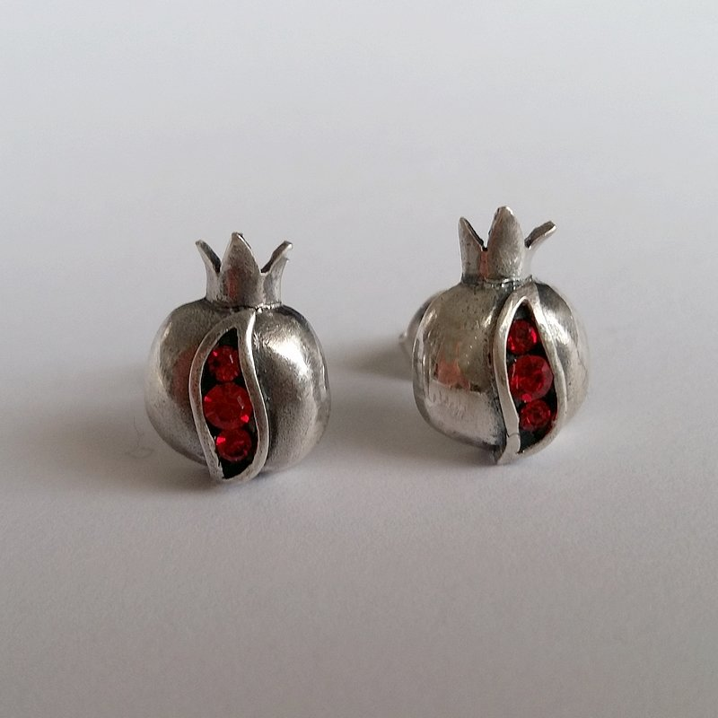 Pomegranate Stud Earrings Granada