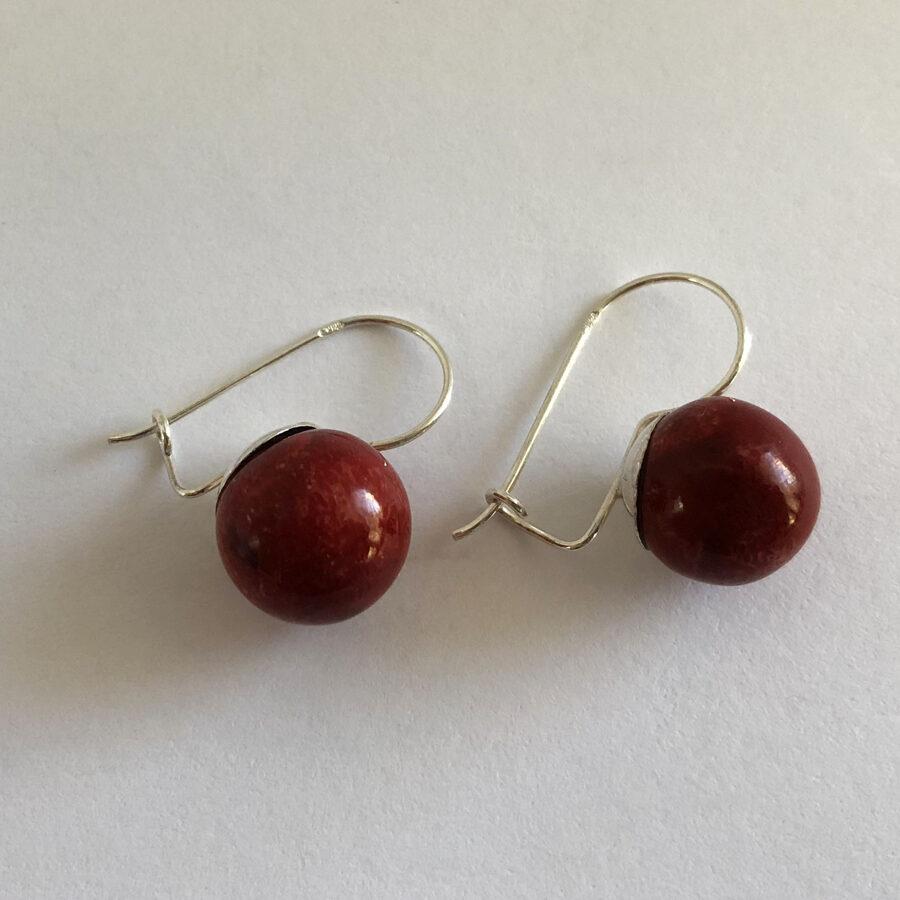 Cranberry Earrings Arandano