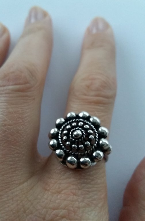 Charro Button Ring