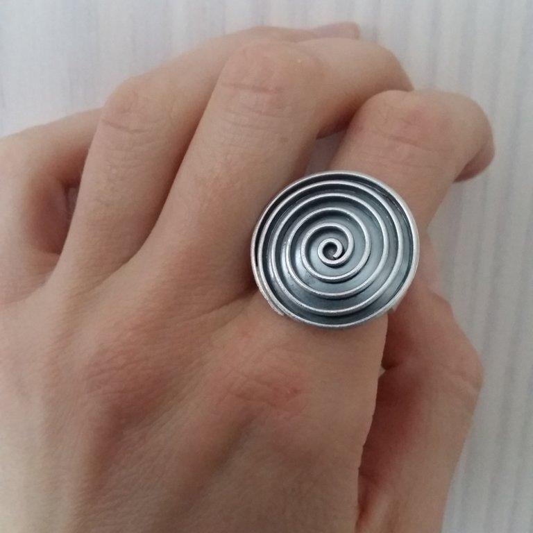 Silver Ring Espiral