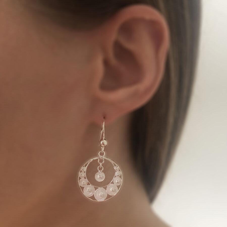 Silver Filigree Earrings Rondena