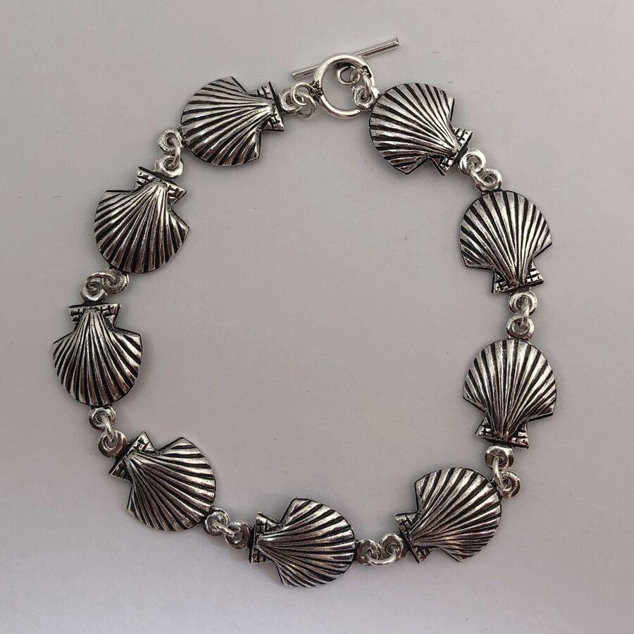 Silver Shell Bracelet Conchas