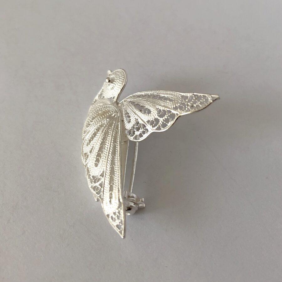 Silver Bird Brooch Paloma