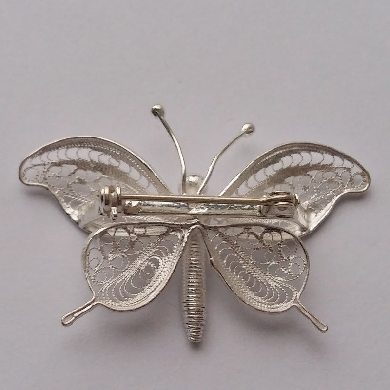 Filigree Brooch Mariposa Volante