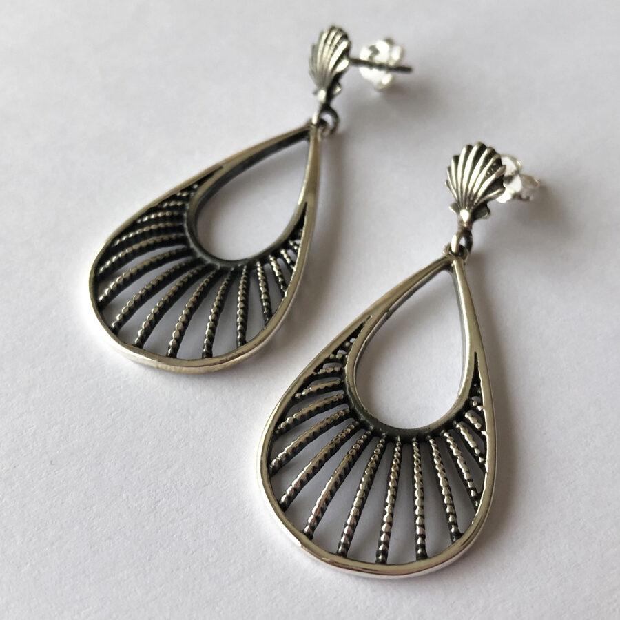 Silver Dangle Earrings Venus