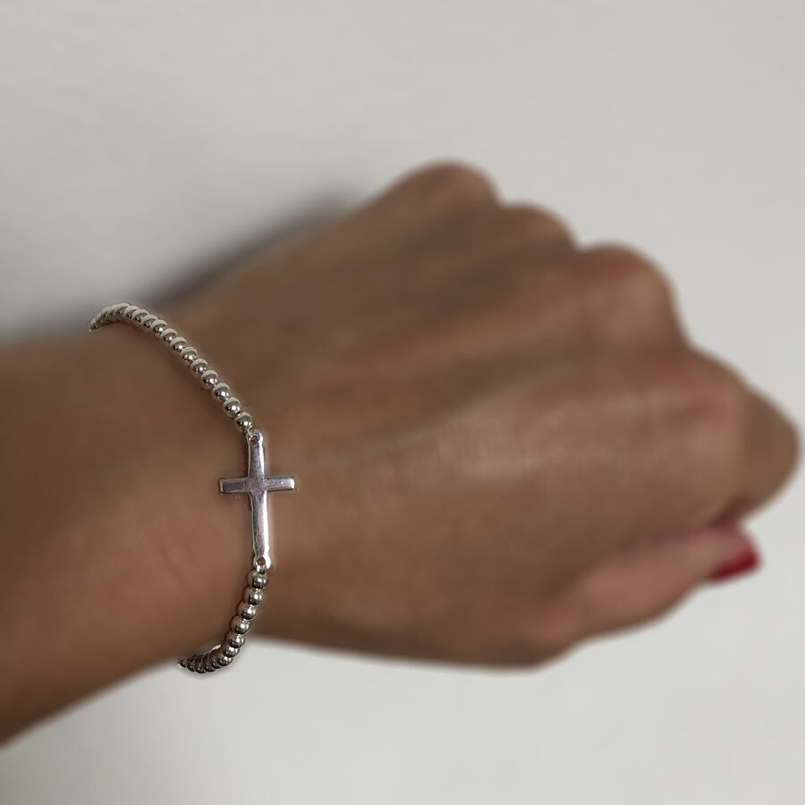 Silver Cross Bracelet La Cruz II