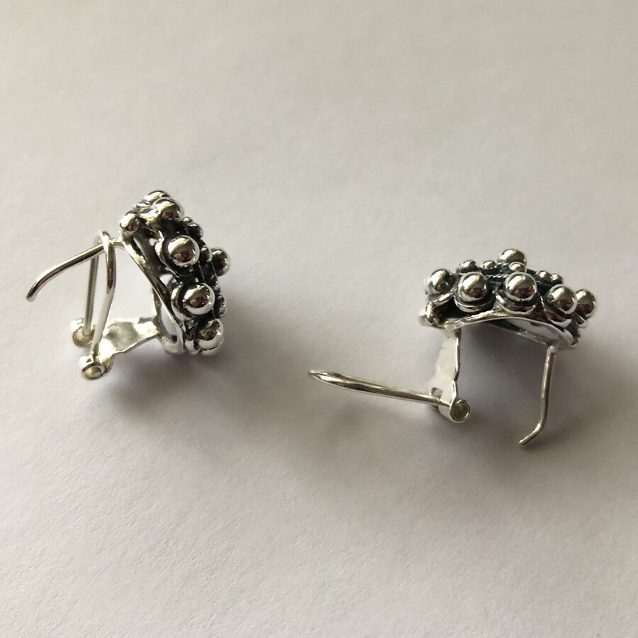 Silver Earrings Charro Omega