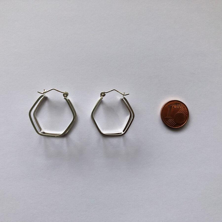 Silver Hoop Earrings Colmena