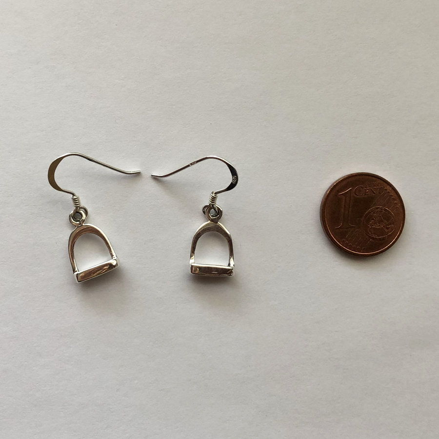 Silver Stirrup Earrings Estribo