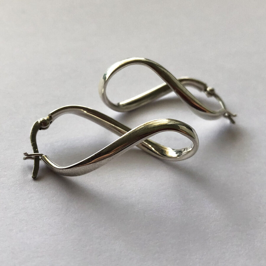 Silver Earrings Infinito Hoops
