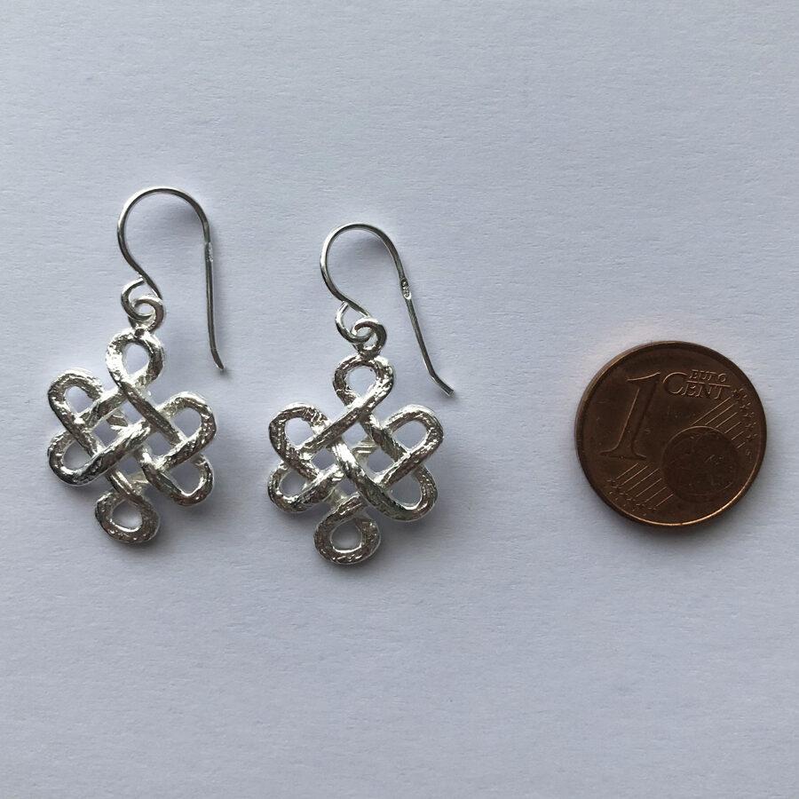 Silver Earrings Nudo Celta