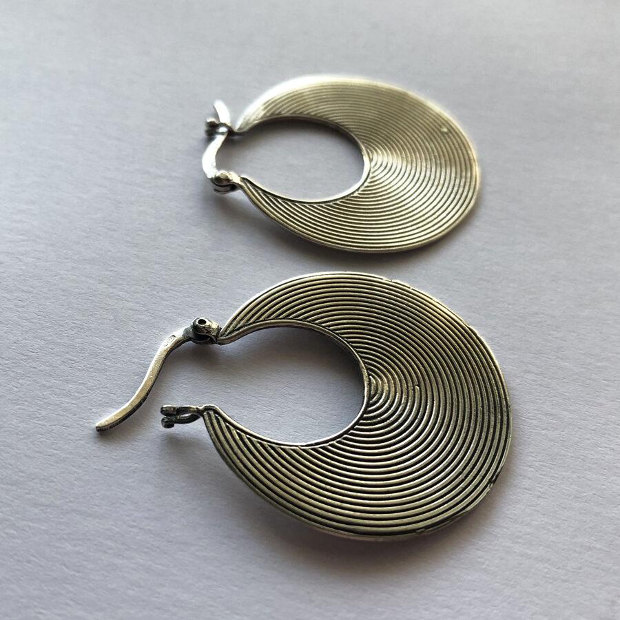 Silver Earrings Musica